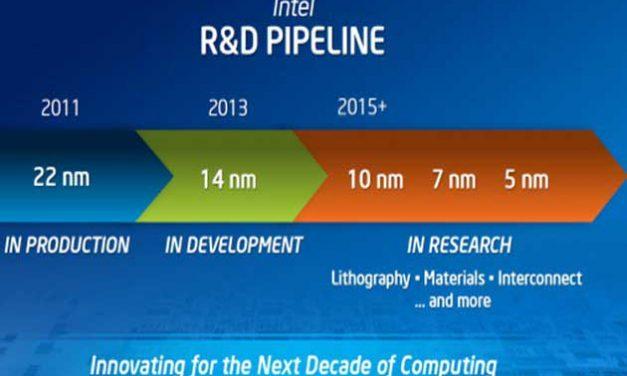 Intel ya piensa en los 5 nanómetros