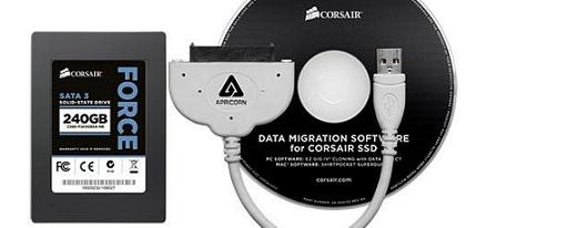 Corsair anuncia su kit de actualización SSD para portátiles