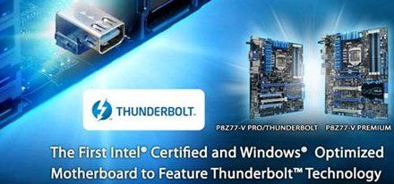 Asus lanza dos tarjetas madres compatibles con la tecnología Thunderbolt