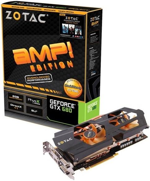 GeForce GTX 680 AMP! Edition de Zotac