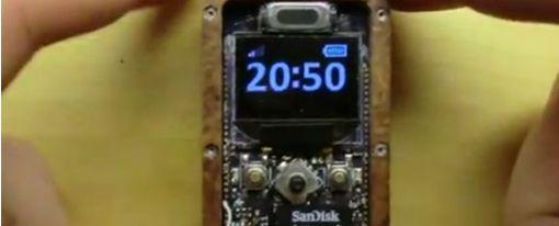 µPhone: Teléfono miniatura totalmente funcional