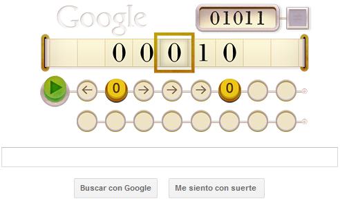 Google - doodle - Alan Turing