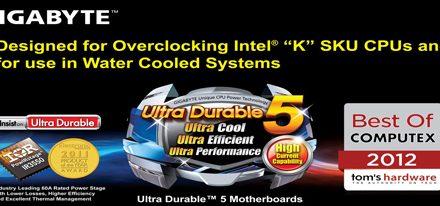 Tecnología Ultra Durable 5 de GIGABYTE Premiada por Tom's Hardware