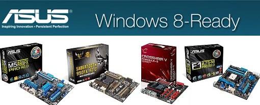 Asus presenta una completa gama de placas AMD certificadas para Windows 8
