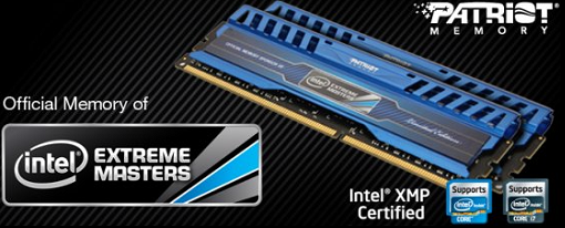 Patriot lanza sus memorias DDR3 Intel Extreme Masters Limited Edition
