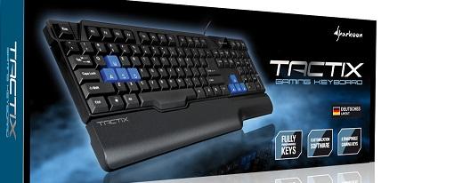 Sharkoon anuncia su teclado para juegos Tactix