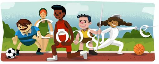 Google celebra el inicio de los Juegos Olímpicos con un nuevo doodle
