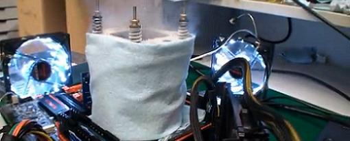 Gigabyte rompe récord mundial con su próxima placa Z77X-UP7 llevando un Core i7 3770K a 7102MHz
