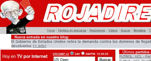 RojaDirecta gana juicio a EEUU y recupera dominios