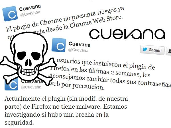 El plugin de Cuevana robaba información