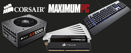 Componentes Corsair presentes en el dream machine de Maximum PC 2012