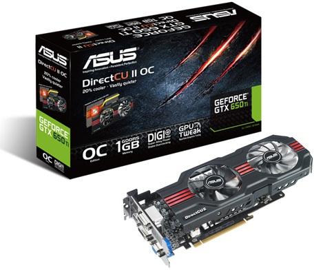 ASUS GeForce GTX 650 Ti DirectCU II