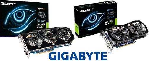 Dos nuevas tarjetas gráficas GeForce de Gigabyte