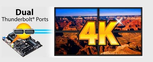CES 2013 – Tarjetas madres Dual Thunderbolt de Gigabyte con resolución 4k mediante la tecnología Intel Collage