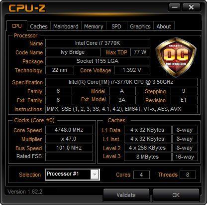 CPU-Z- Sorteo del año de la serpiente de Gigabyte