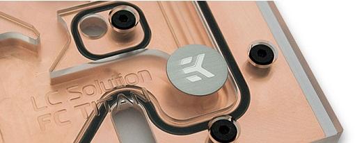 Bloques de refrigeración líquida para las GeForce GTX Titan de EK Water Blocks
