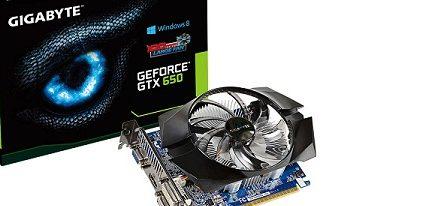 Gigabyte lanza dos modelos de GeForce GTX 650 con ventilador de 100 mm