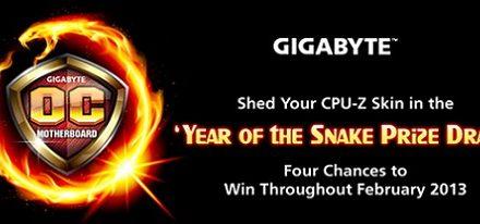 """Cambia tu skin de CPU-Z y gana con el sorteo del """"año de la serpiente"""" de Gigabyte"""