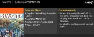 AMD APU A Series bundle Sim City