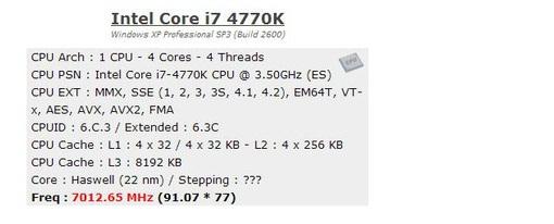 Llevan un Core i7-4770K hasta los 7 GHz