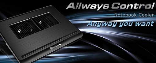 Thermaltake presenta su disipador para notebooks Allways Control