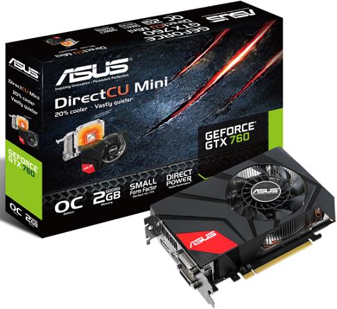 GeForce GTX 760 DirectCU II Mini de Asus