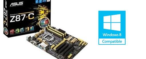 La tarjeta madre Z87-C de Asus obtiene la certificación WHQL para Windows 8.1