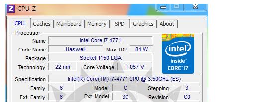 Ya probaron un procesador Intel Core i7-4771