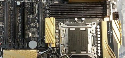 Imágenes de la tarjeta madre X79 Deluxe de Asus