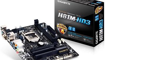 Tarjeta madre H81M-HD3 de Gigabyte