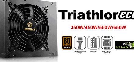 Enermax presenta su serie de fuentes de poder Triathlor ECO