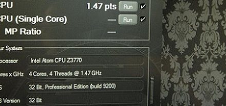 Filtrado el rendimiento de un procesador Intel Atom Z3770 'Bay Trail'