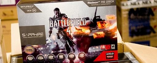 Avistada en una tienda la tarjeta gráfica Radeon R9 290x
