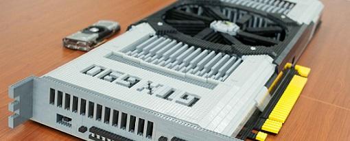 Réplica de una GeForce GTX 690 hecha con Legos