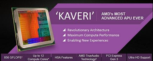 Lanzadas oficialmente las APUs Kaveri serie A de AMD