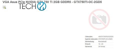 Listada una GeForce GTX 750 Ti de Asus