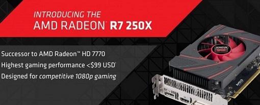 Especificaciones oficiales de la AMD Radeon R7 250X