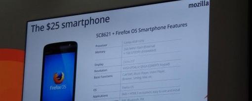 MWC – Mozilla presenta smartphone con Firefox OS por sólo 25 dólares