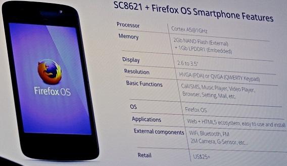 Spreadtrum SC8621 - 25 dolares - Firefox OS