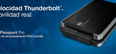 WD presenta el primer disco duro dual portátil con Thunderbolt