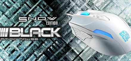 Ratón láser de juegos BLACK Snow Edition de Tt eSports