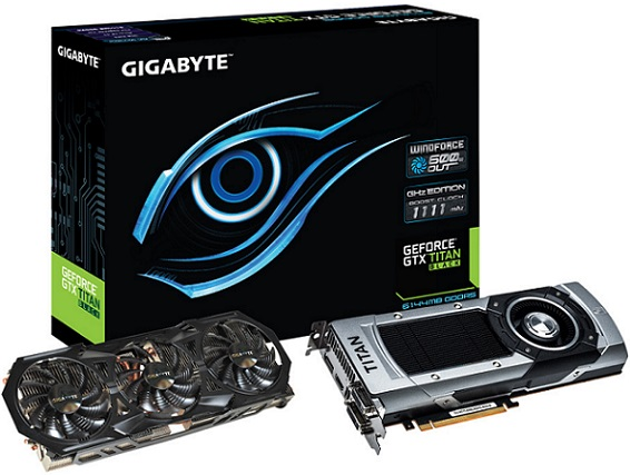 Gigabyte GeForce GTX Titan Black + disipador WindForce