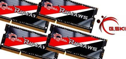 Nuevo kit de memorias SO-DIMM Ripjaws DDR3L de 32 GB