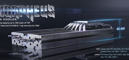 Raijintek presenta su disipador para VGAs Morpheus