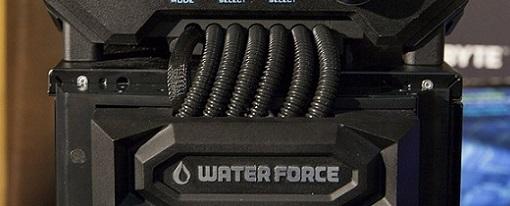 Gigabyte exhibió su solución de refrigeración líquida WaterForce