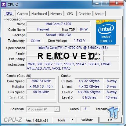 Intel Core i7-4790 CPU-Z