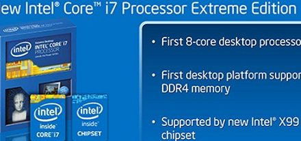 Especificaciones de varios CPUs Intel Core i7 «Haswell-E»