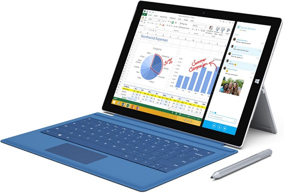 Tablet Surface Pro 3 de Microsoft