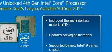 """Listados tres procesadores con multiplicador desbloqueado """"Devil's Canyon"""""""
