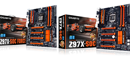 Placas base Z97 serie SOC (Super OverClocking) de Gigabyte
